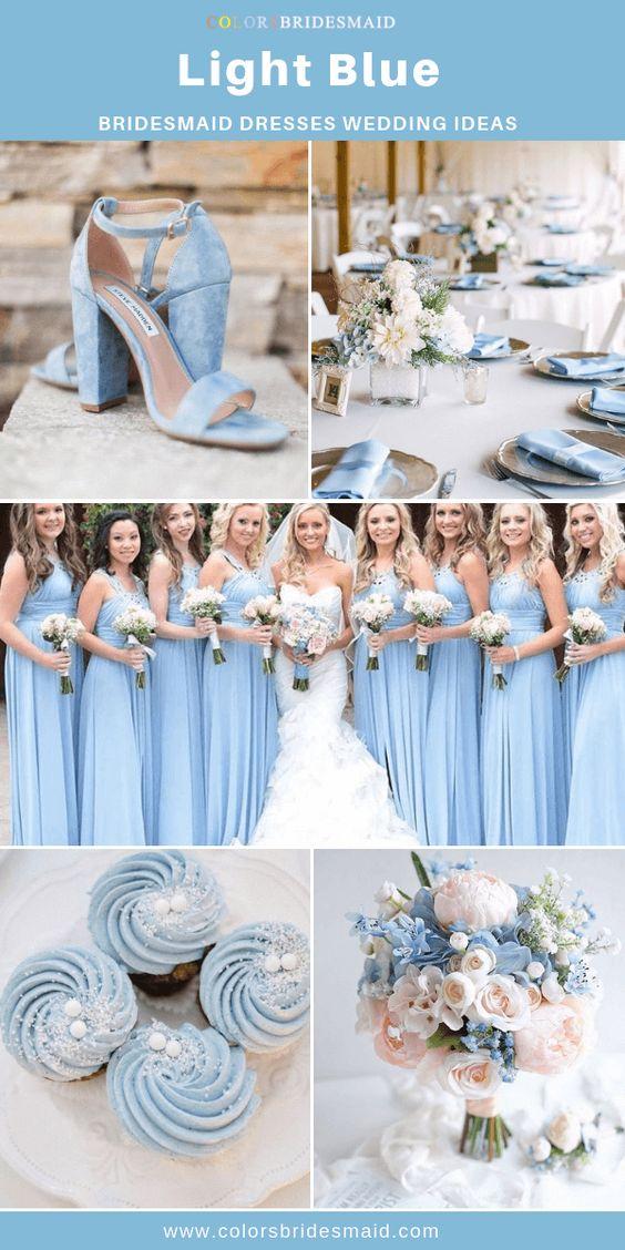 All 30+ Blue Wedding Color Palettes - ColorsBridesmaid