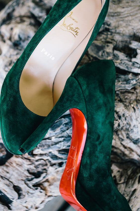 Wedding Shoes for Emerald Green and Blue Fall wedding