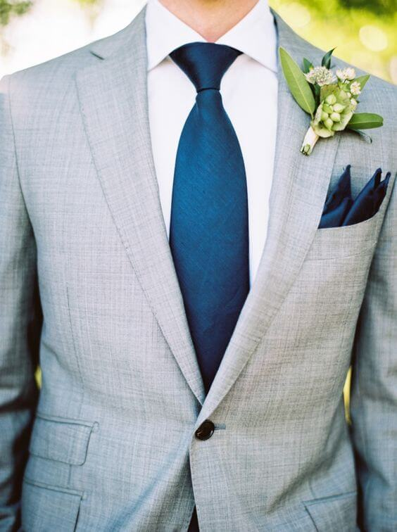 Groom for Navy and Grey Fall wedding