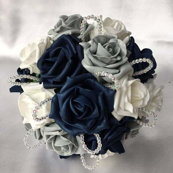 Wedding Bouquets for Navy and Grey Fall wedding