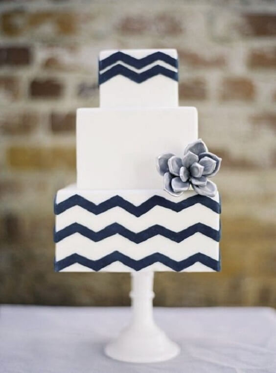 Wedding Cake for Navy and Grey Fall wedding