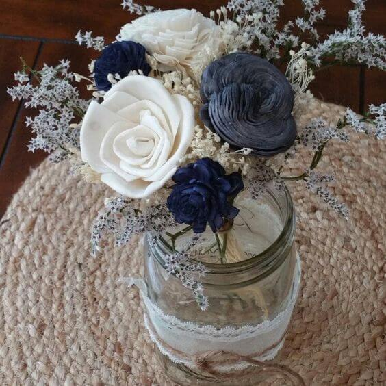 Wedding Centerpieces for Navy and Grey Fall wedding