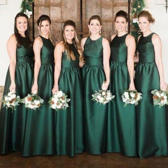 dark green bridesmaid dresses for fall dark green wedding