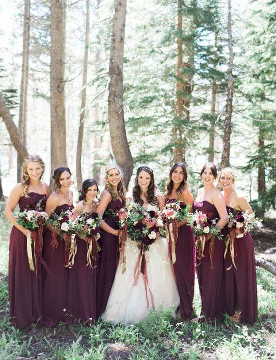 Classic Navy And Wine Fall Wedding Color Inspirations Colorsbridesmaid