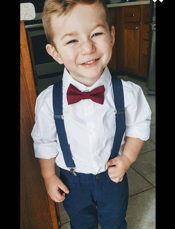 ring bearer for Navy and Wine wedding