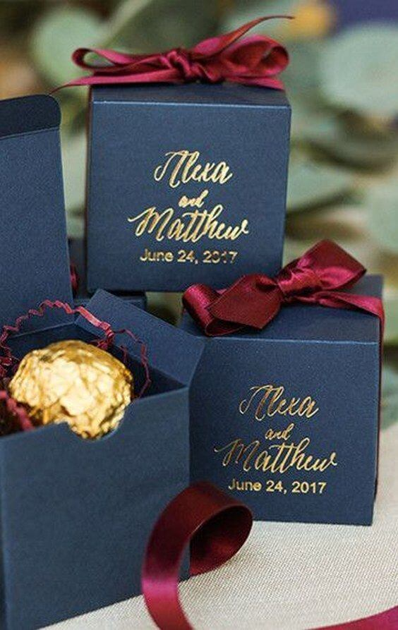 weddng Gifts for Navy and Wine wedding