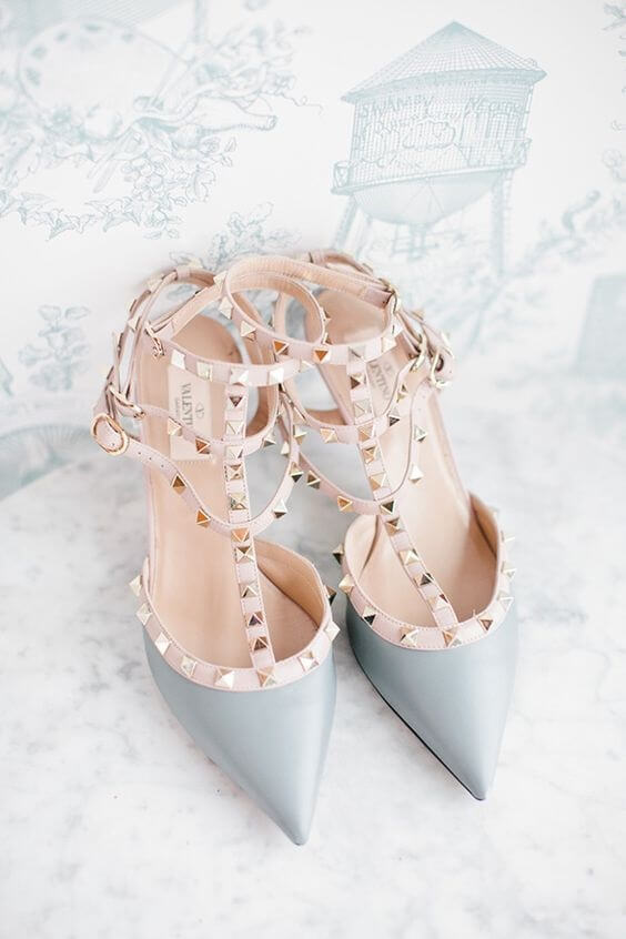 ice blue and light pink wedding heels for spring ice blue wedding