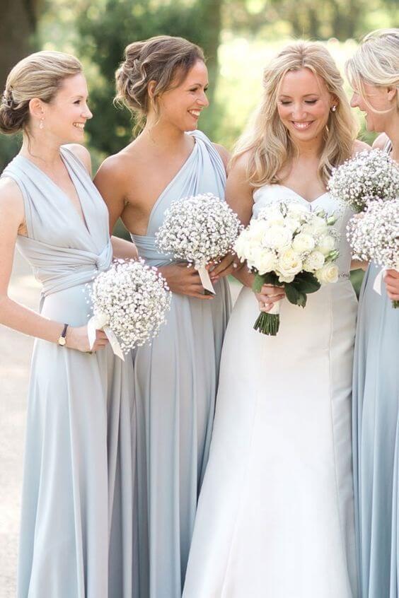 ice blue bridesmaid dresses for spring ice blue wedding 2