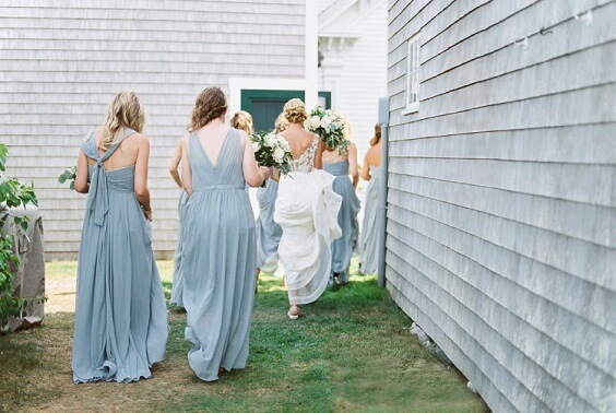 dusty blue bridesmaid dresses for spring dusty blue wedding 2