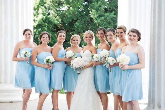 Bridesmaid Dresses for Blue August wedding