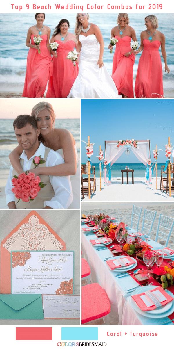 Beach Wedding Colors.Top 9 Beach Wedding Color Combos Ideas For 2019 Colorsbridesmaid