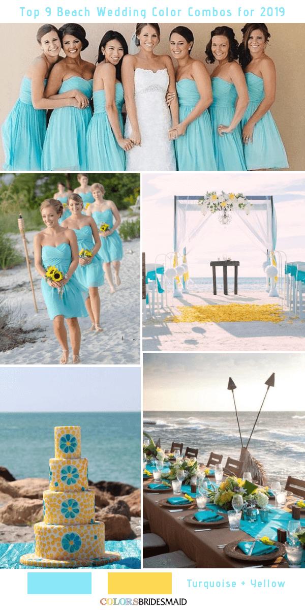 Top 9 Beach Wedding Color Combos Ideas For 2019 Colorsbridesmaid