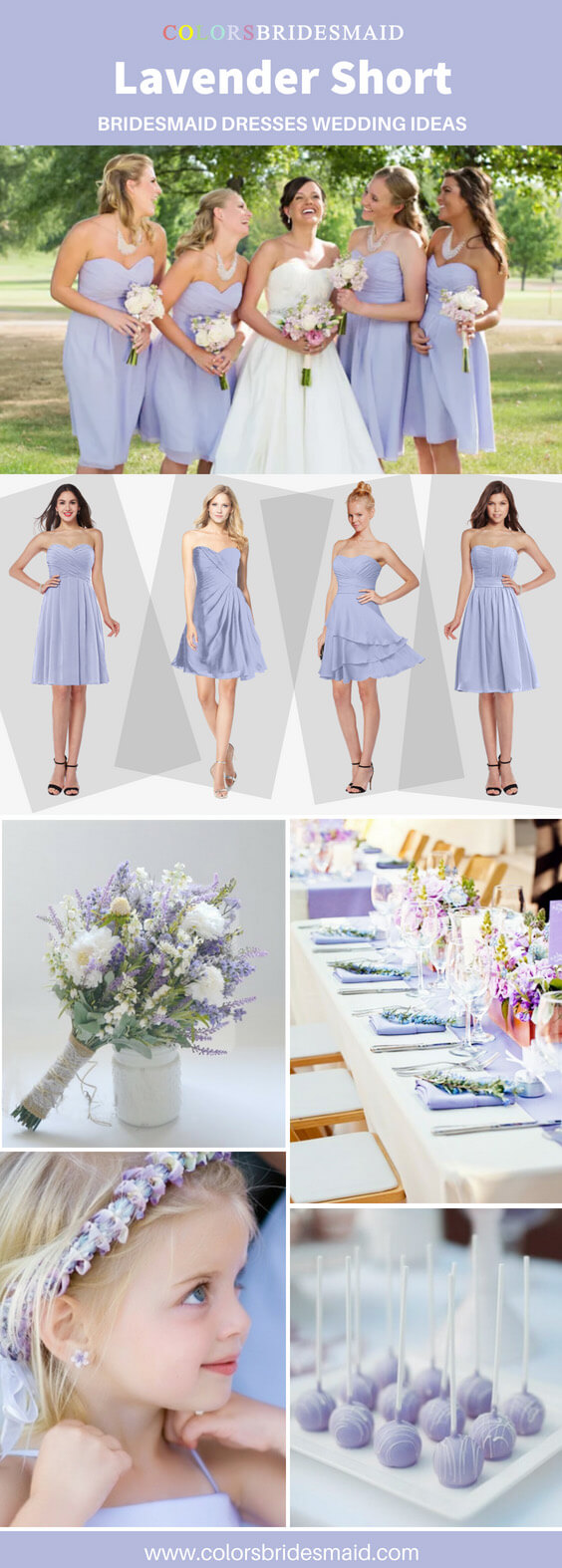lavender short bridesmaid dresses