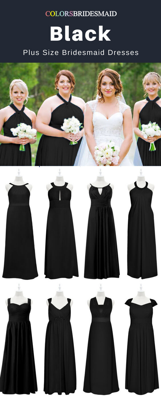 Best 8 Black Plus Size Bridesmaid Dresses Never Out Of Date ...
