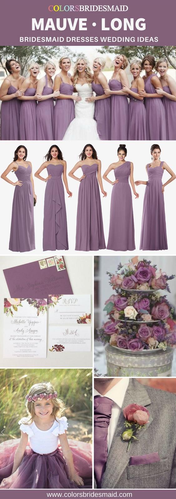 mauve long bridesmaid dresses