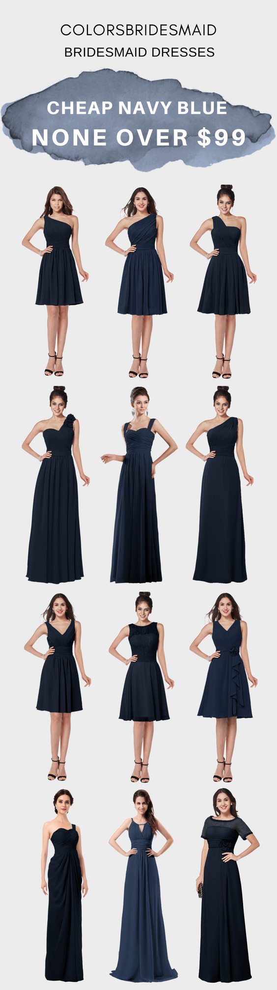 Best Ing Navy Blue Bridesmaid Dresses Under 100