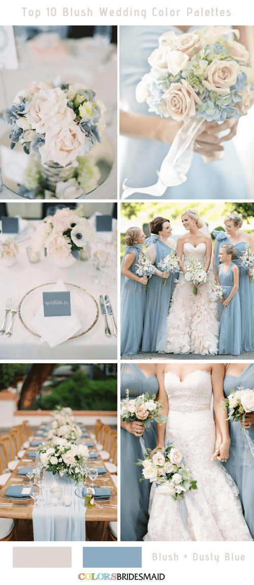 Top 10 Blush Wedding Color Palettes for