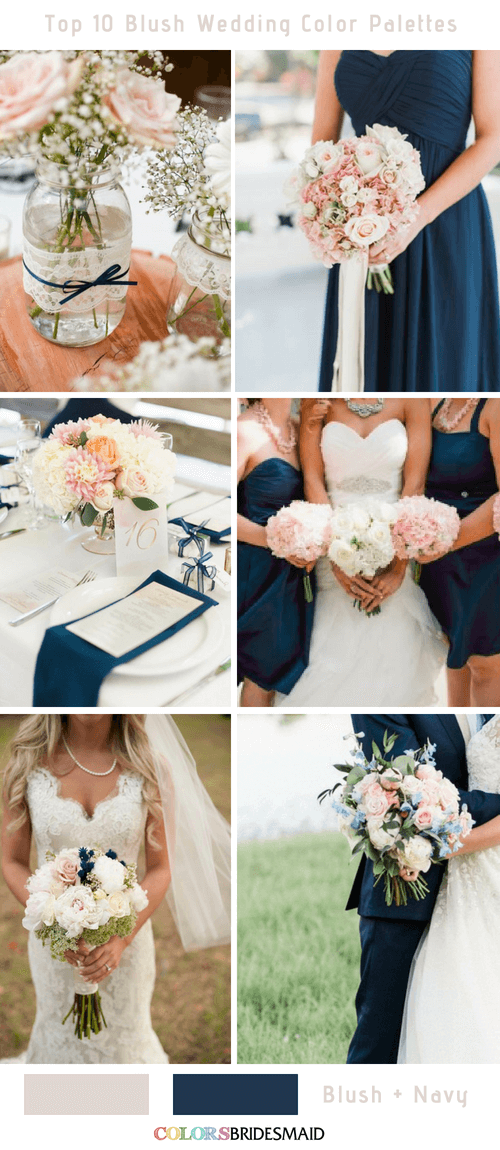 Navy And Blush Wedding.Top 10 Blush Wedding Color Palettes For Your Inspiration