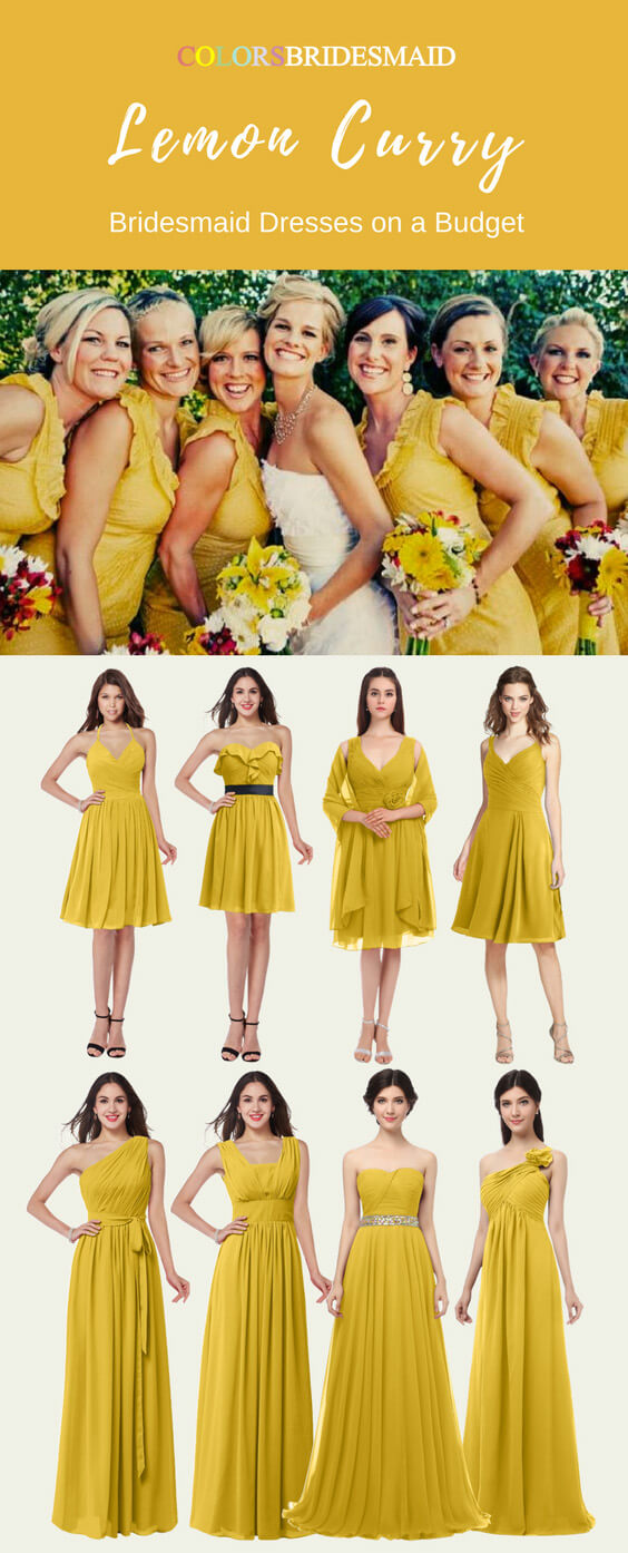 Bridesmaid Dresses in Lemon Curry Color with Stunning Styles