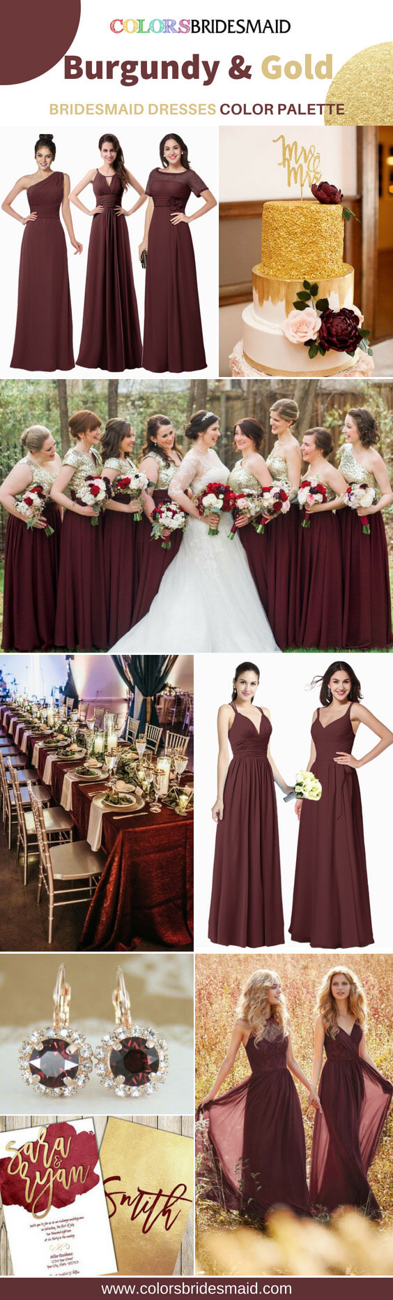 Burgundy And Gold Bridesmaid Dresses You Will Want To Wear