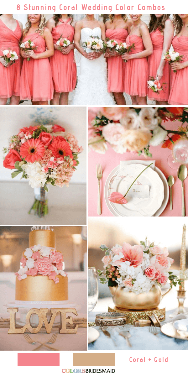 8 Stunning Coral Wedding Color Combinations You'll Love ...
