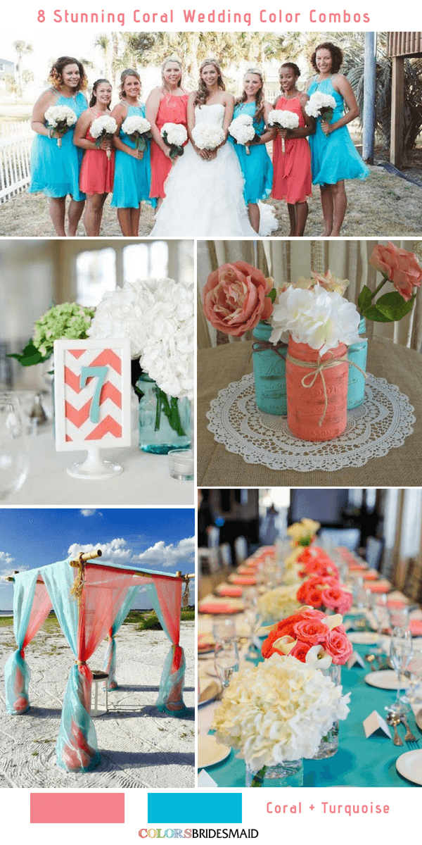 8 Stunning Coral Wedding Color Combinations You\'ll Love ...