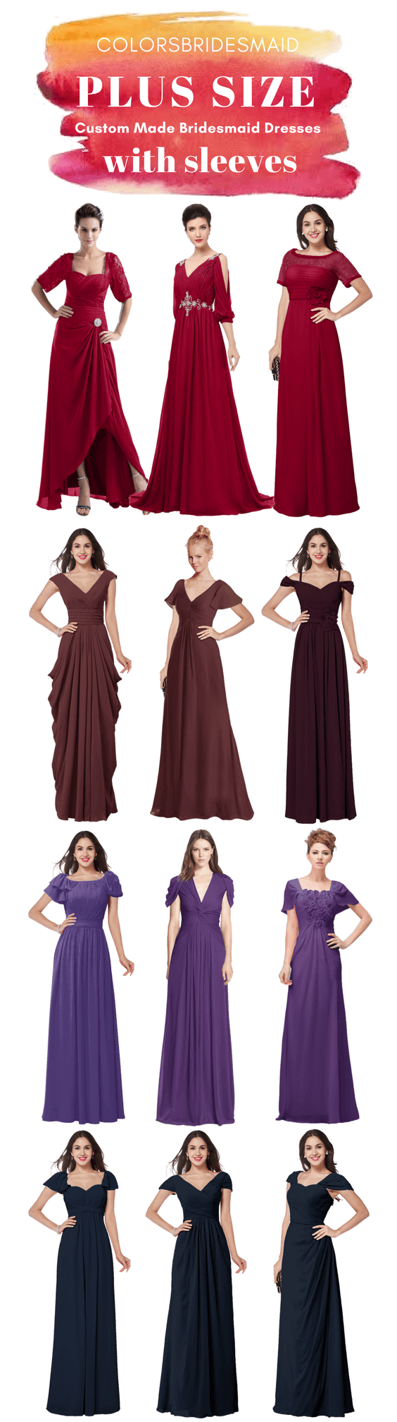 22427c5408a Curvy Plus Size Bridesmaid Dresses With Sleeves That Will Flatter ...