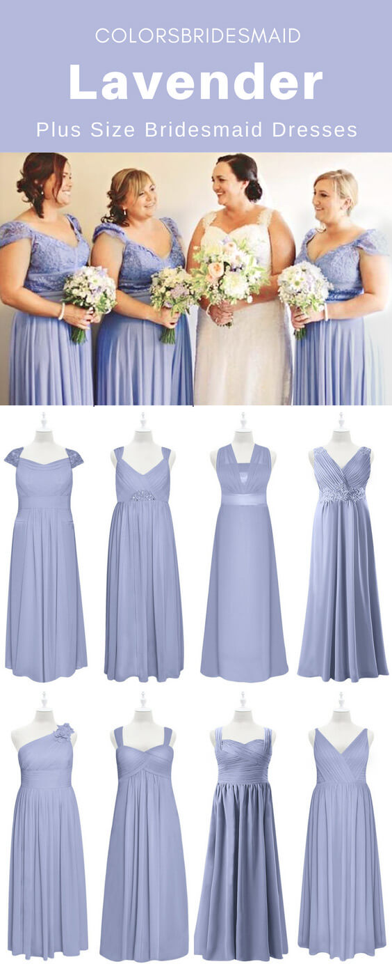 Custom-made Plus Size Lavender Bridesmaid Dresses To Flatter ...