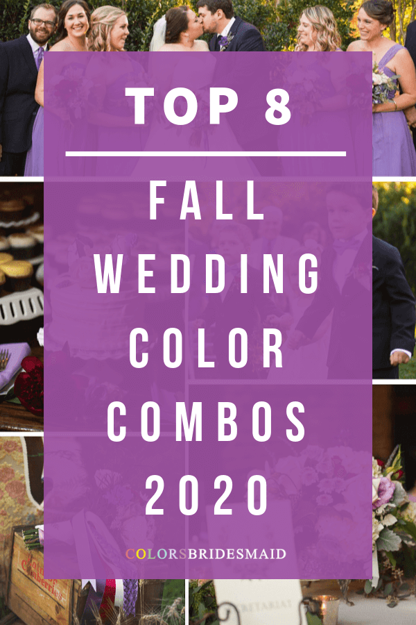 Fall wedding color combos for 2020