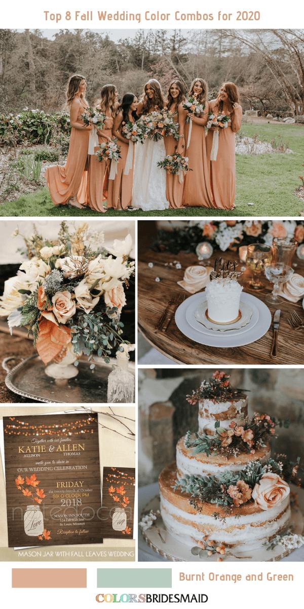 Top 8 Fall Wedding Color Combos For 2020 Colorsbridesmaid,Christina Anstead Tarek El Moussa Instagram