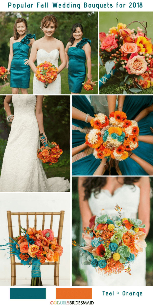 10 Stunning Fall Wedding Bouquets To