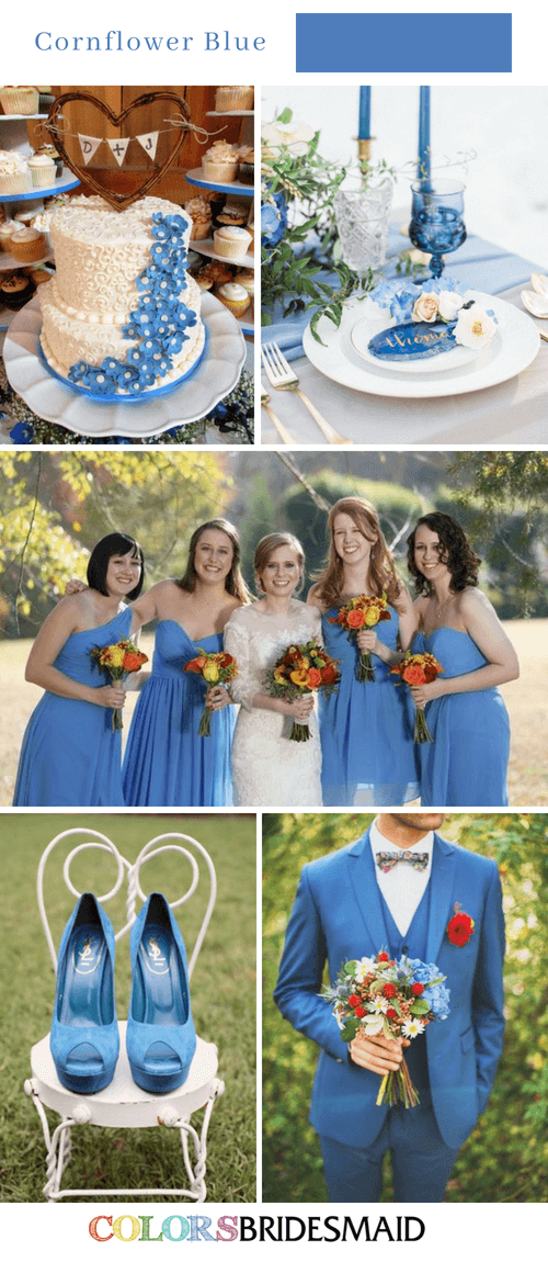Fabulous Fall Wedding Colors Palettes in Shades of Blue ...