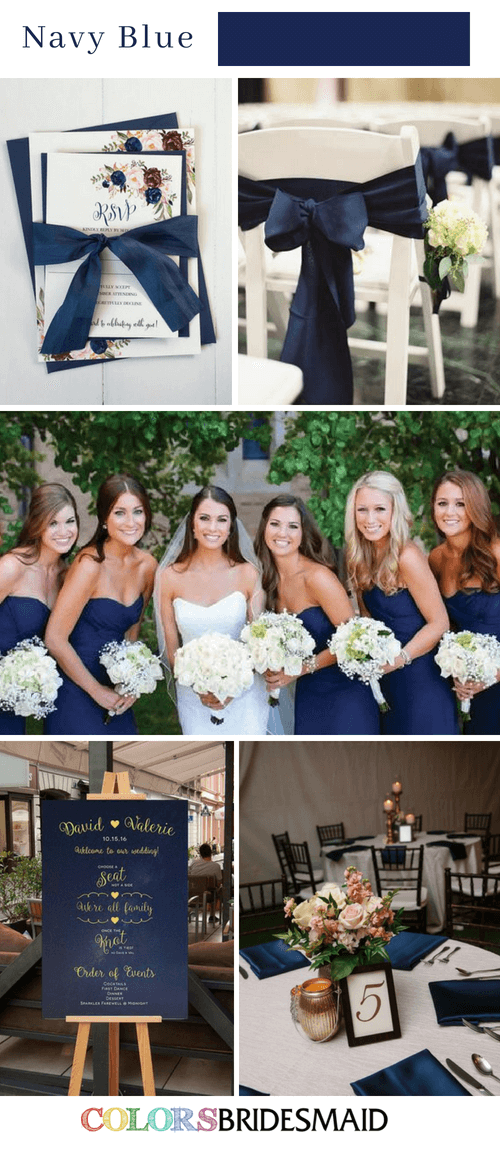 Fall wedding colors navy blue