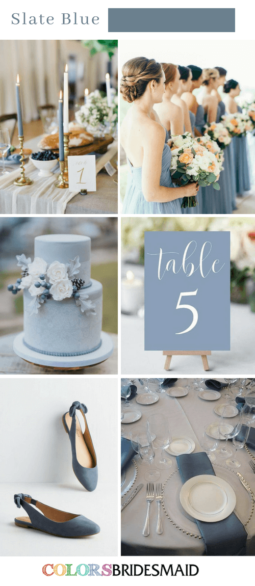 Fabulous Fall Wedding Colors Palettes In Shades Of Blue 2 Colorsbridesmaid