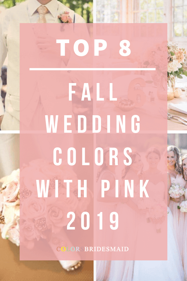 fall wedding color with pink