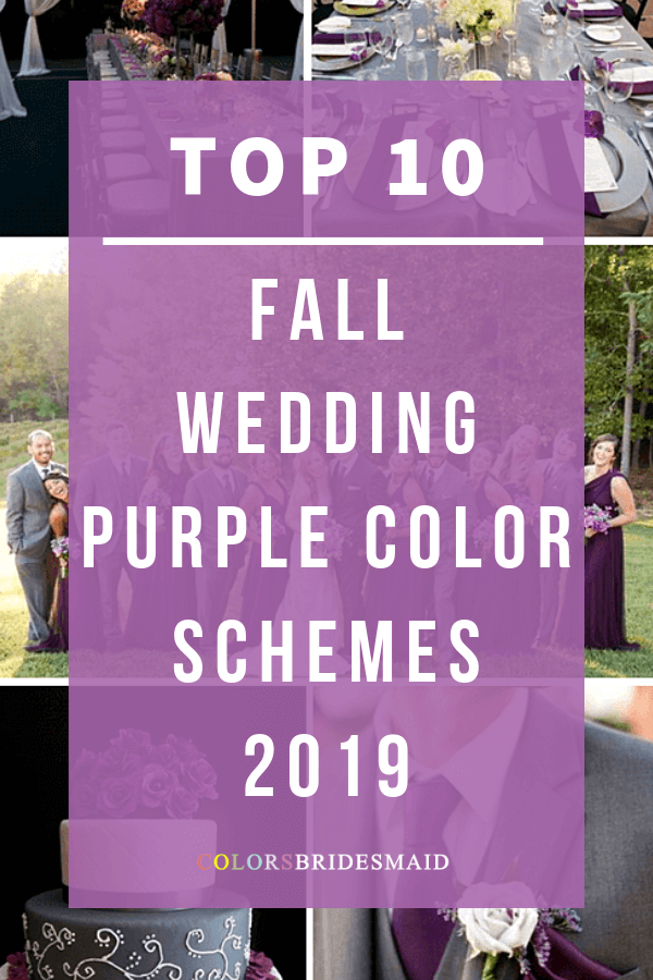 fall wedding colors with purple