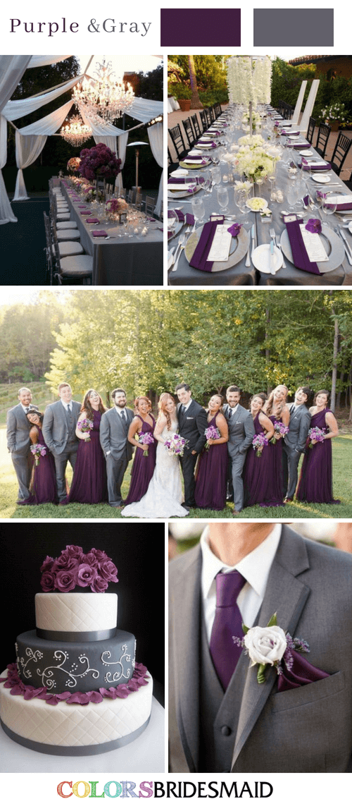 Fall Wedding Colors With Purple 10 Purple Wedding Color Schemes