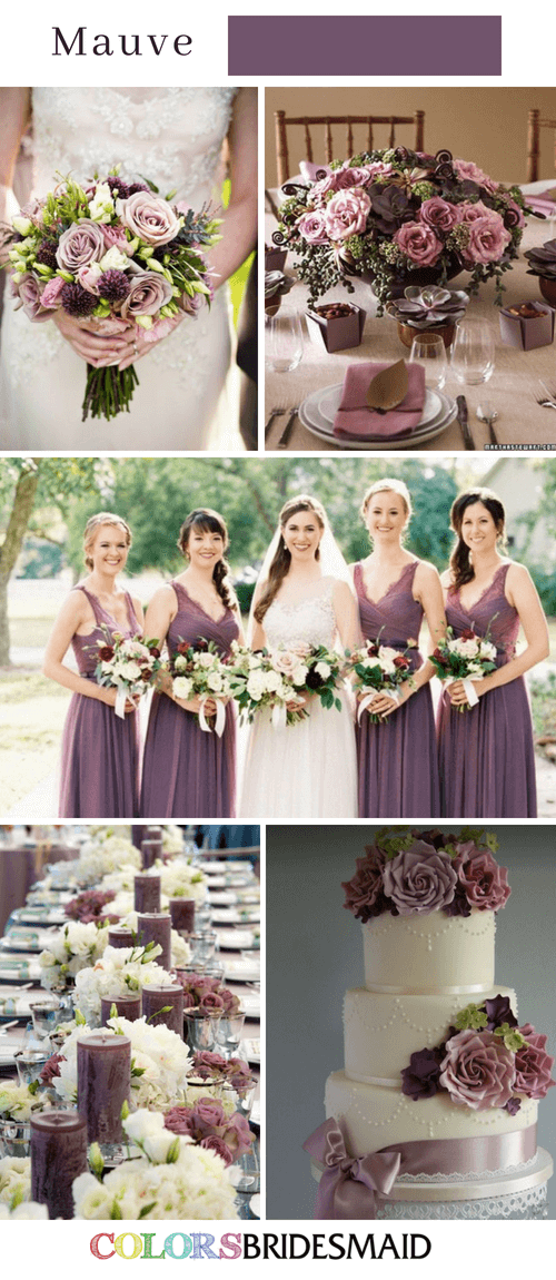 Fall wedding colors with mauve