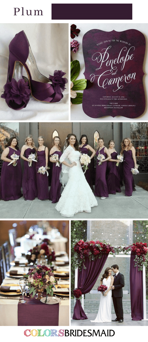 Fall Wedding Colors With Plum