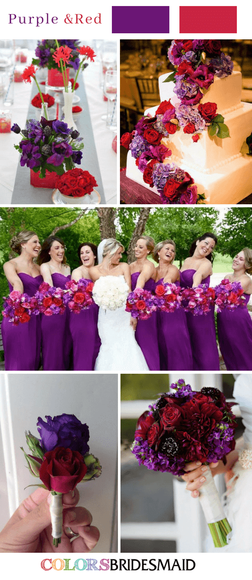 Fall Wedding Colors with Purple - 10 Purple Wedding Color Schemes ...