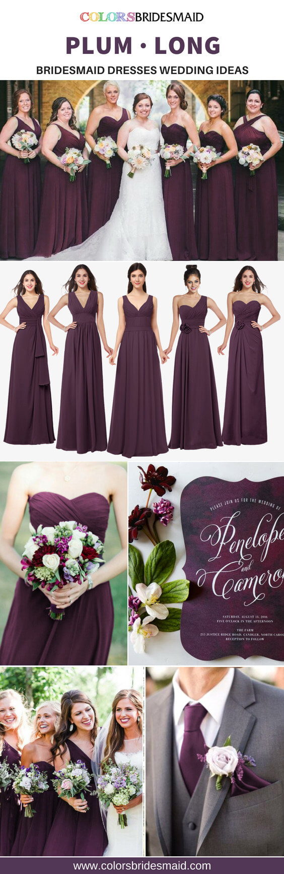 3938206bfb259 Great 5 Plum Long Bridesmaid Dresses For A Fall Wedding ...