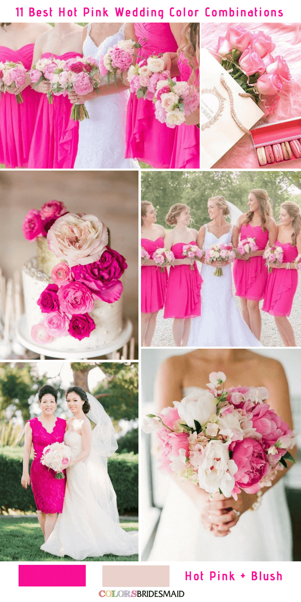 11 best hot pink wedding color combinations ideas colorsbridesmaid 11 best hot pink wedding color combinations ideas hot pink and blush junglespirit Gallery
