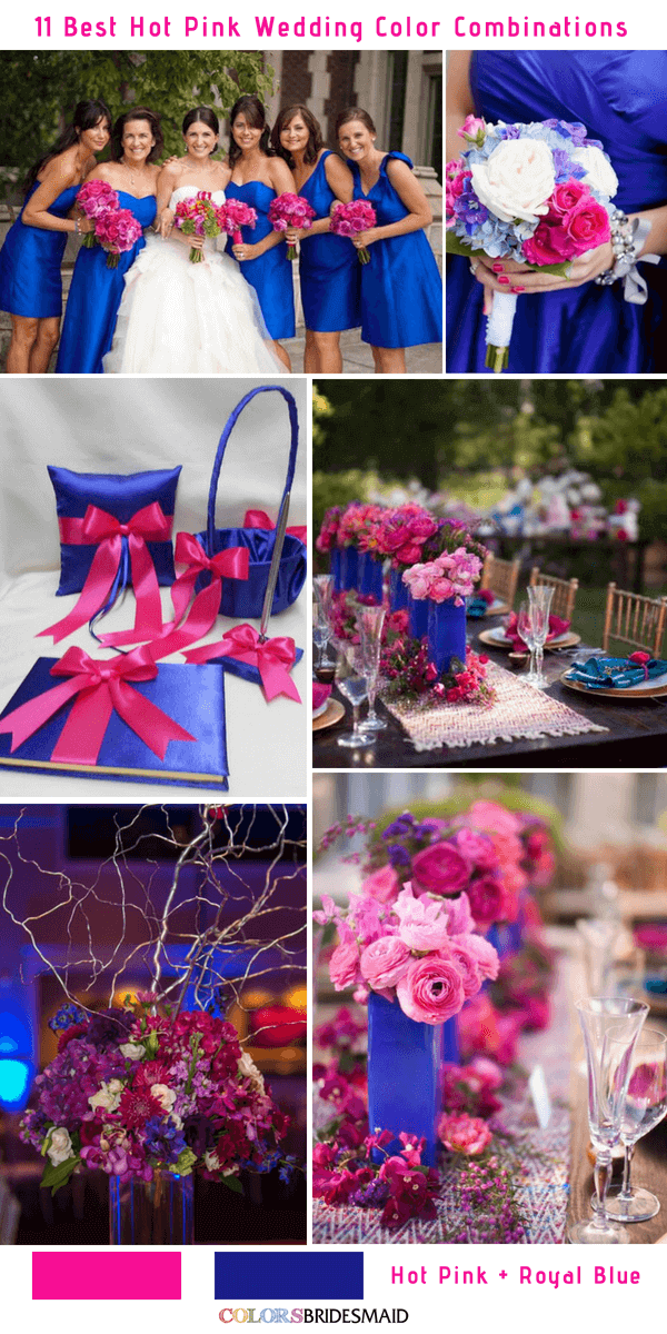 11 Best Hot Pink Wedding Color Combinations Ideas Colorsbridesmaid