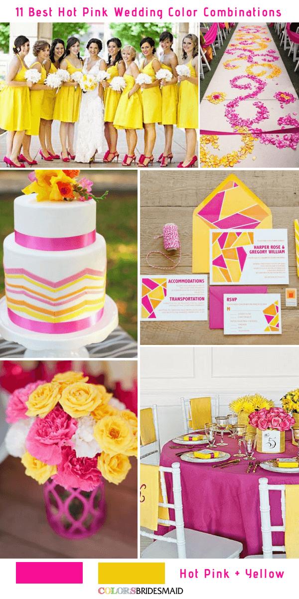 11 Best Hot Pink Wedding Color Combinations Ideas - ColorsBridesmaid