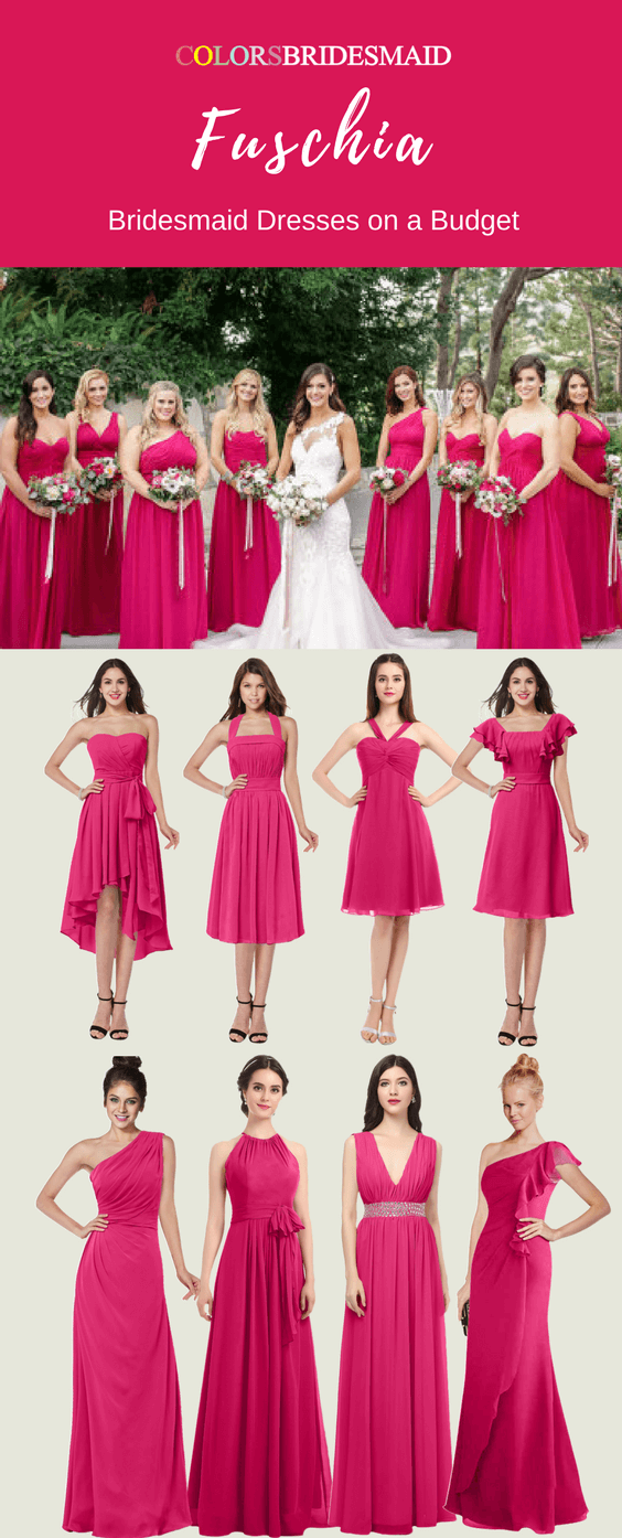 In Want Bridesmaid Dresses in Fuschia with Stunning Styles?