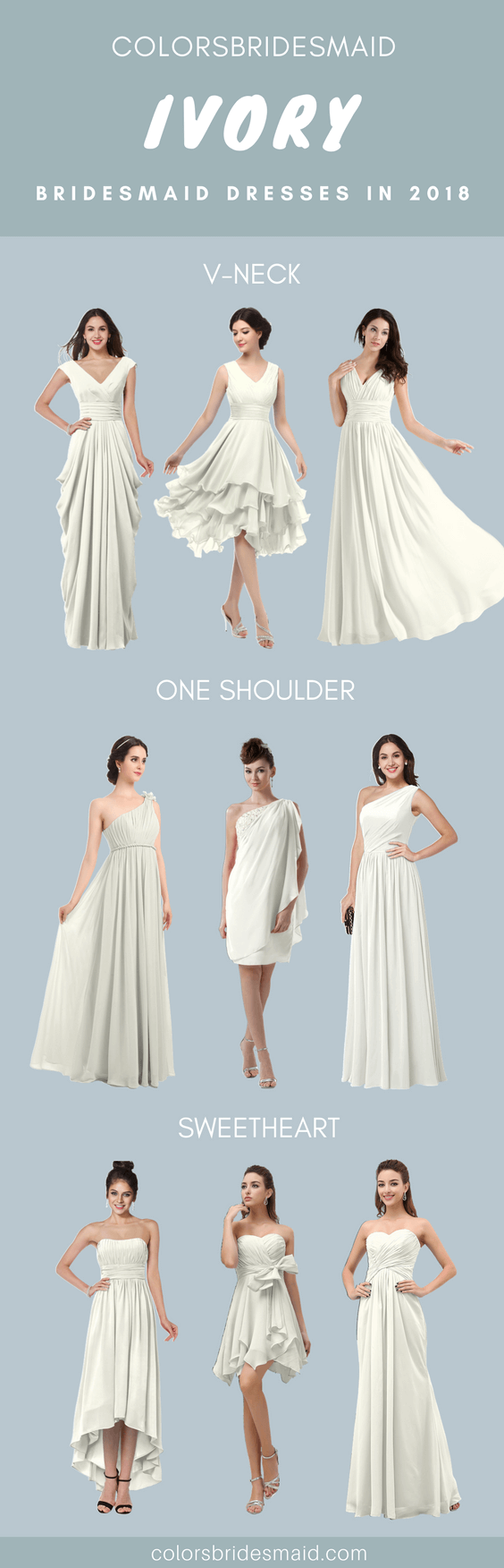 Ivory Bridesmaid Dresses in 2018 with Great Styles