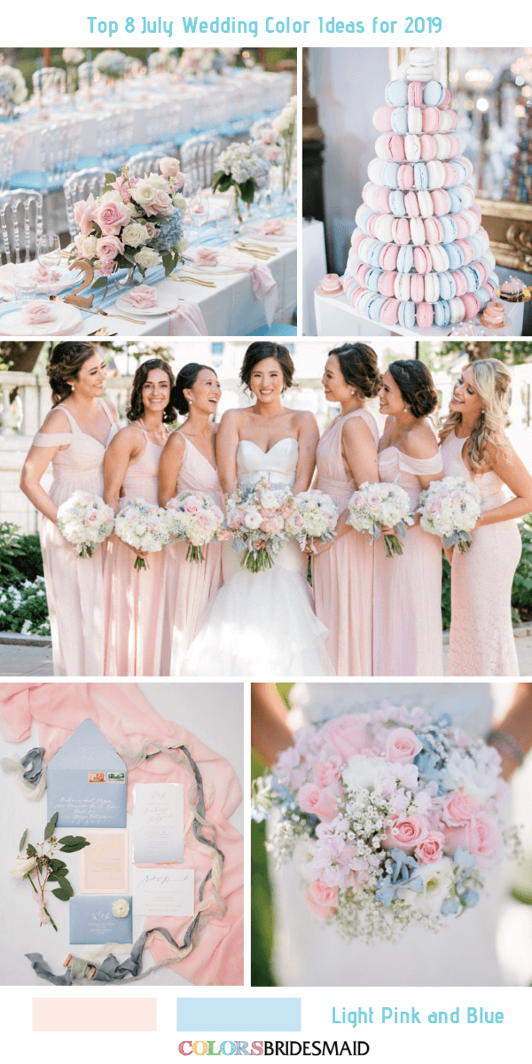 You can never go wrong with a blush pink and navy blue ... |Light Pink And Blue Wedding