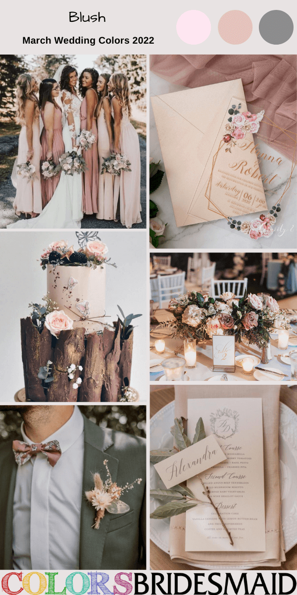 March Wedding Colors for 2022 Blush