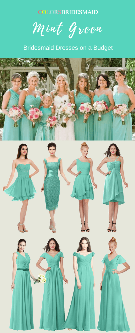 Mint Green Bridesmaid Dresses for a Spring or Summer Wedding