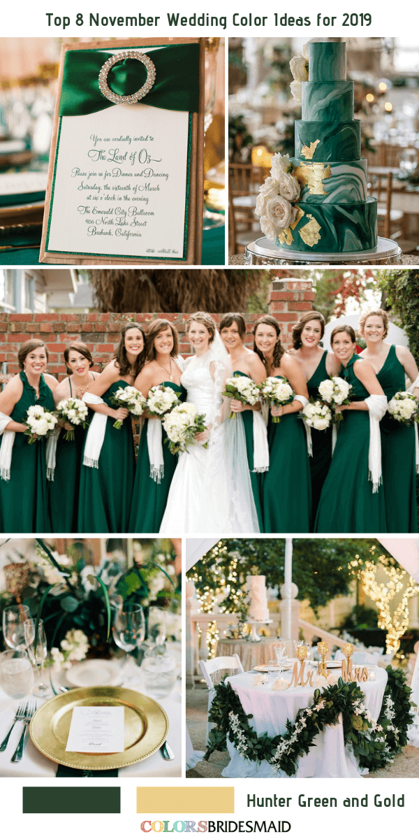 Top 8 November Wedding Color Ideas For 2019 Colorsbridesmaid